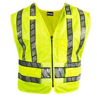Hi-Vis Yellow Black 343R Oralite Zip-Front Safety Vest Blauer