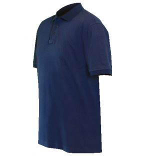 Navy Blue 8136 Cotton Polo Shirt Blauer